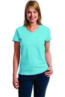 Hanes Ladies ComfortSoft V-Neck Short Sleeve T-Shirt Women's S M L XL 2XL  5780