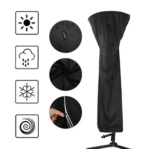 OUTDOOR GARDEN GAS PATIO HEATER LARGE COVER BLACK POLYESTER WATERPROOF PROTECTOR