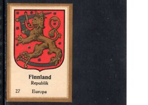VERY EARLY FINLAND CIGARETTE CARD, FINLAND COAT OF ARMS