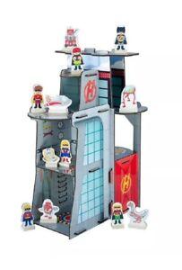 New 2015 Teamson Kids Super Hero Center Play Set Table Top 3 Deck 12 Accessories