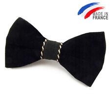 Made in France NOEUD PAPILLON velours noir pour homme - Men Black velvet bow tie