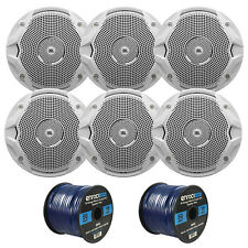 "100FT Marine Cadence Blue Speaker Wire, 6 JBL Marine 6.5""150W Stereo Speaker Set"