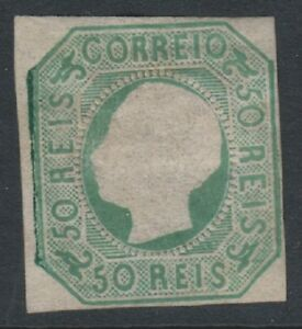 Portugal - 1864, 50r Blue-Green - 2 Margins - M/m - SG 33 - Cat