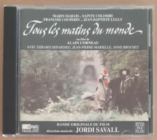 JORDI SAVALL/CORNEAU OST TOUS LES MATINS DU MONDE COMPACT DISC AUVIDIS 1991