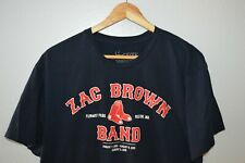 Zac Brown Band Live at Fenway Park Boston Show Mens T-Shirt Size Large