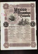 MEXICO TRAMWAYS COMPANY DD 1910