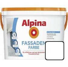 Alpina Fassadenfarbe 2,5 l Weiß Matt Außenfarbe Wandfarbe Wasserabweisend