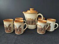 Vintage Ashdale Pottery Teapot & 6x Mugs