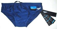 MENS SPEEDO POWERFLEX NAVY BLUE SWIM TRUNKS BRIEFS SIZE 36