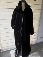 Faux Fur Coat- Dramatic full length with hood.
