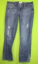 Aeropostale Capris sz 1/2 Juniors Womens Blue Jeans Denim Pants Stretch EP17