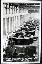 GRAND COULEE DAM WA~1940's INTERIOR WEST POWER HOUSE~GENERATORS~ ELLIS RPPC