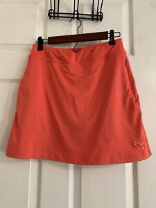 Women's Puma Golf Skirt Orange Size XS