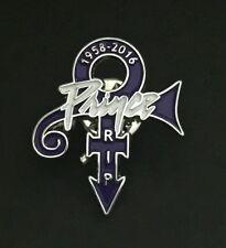 Rare Prince Memorial Enamel Pin Badge RIP 1958 - 2016 Purple Rain Love Symbol