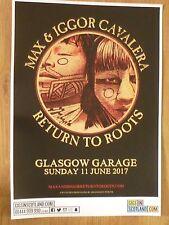 Max & Iggor Cavalera - Glasgow june 2017 tour concert gig poster