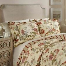Floral Medley 3-Piece Reversible Quilt Collection, 3 Piece King Quilt Set