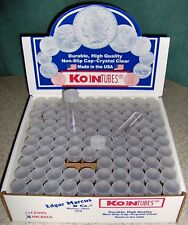 100 NICKEL COIN TUBES NEW - Screw-on Tops - Koin brand Coin Tubes MADE IN U.S.A.