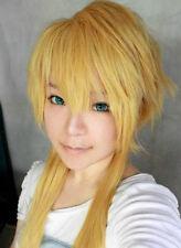 Vocaloid 2 Kagamine Len Fleeting Moon Flower Cosplay Perücke wig blond gelb gold