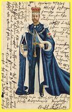 cpa Gaufrée Embossed CORONATION H.R.H. the PRINCE of WALES en 1904 Royalty