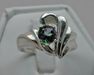 Mystic Topaz and Sterling Silver Fancy Ring