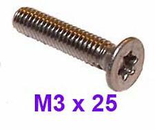 M3 x 25 Stainless Countersunk TORX bolts 3mm x 25mm Torx Countersunk Screws x20