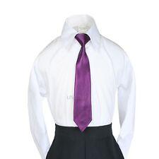 23 Color Clip-On Satin Necktie for Boy Suits Tuxedo S:S-4T M:5-7 L:8-14 XL:16-20