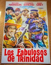 FABULOUS TRINITY Original SPAGHETTI WESTERN Movie Poster RICHARD HARRISON