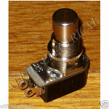 Carling SPST Chrome Heavy Duty Foot Switch - Part No. SWT110P