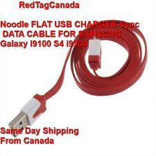 Noodle FLAT USB CHARGER Sync DATA CABLE FOR SAMSUNG Galaxy I9100 S4 i9500 - CAN