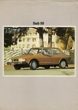 Saab 99 1980-81 UK Market Leaflet Sales Brochure GL Turbo