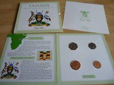 1987 Uganda 4 coin mint set BU brilliant uncirculated