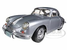 1961 PORSCHE 356B COUPE SILVER 1:18 DIECAST MODEL CAR BY BBURAGO 12026