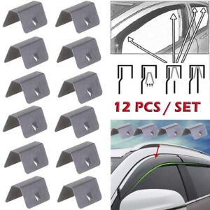 12X Wind / Rain Deflector Car Channel Metal Retaining Clips For Heko G3 Clip New