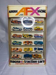 AFX - Rare Vintage Factory Sold Store Display Case - 18 Cars - HO Slot Cars