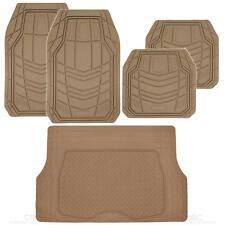 carXS Beige TransTech All Weather Rubber Mats Set 5pc Car Floor Mat Cargo Liner