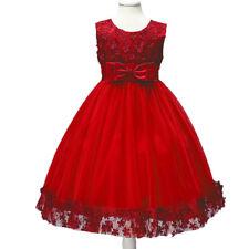 Flower Girl Bowknot Tutu Dress for Kids Wedding Bridesmaid Birthday Formal Party