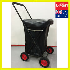 4 Wheels Shopping Trolley Collapsible Large Steel Basket Folding Cart Waterproof
