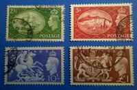 Great Britain SC # 286-289 * SG 509-512 * 1951 Nice KGVl Used Set  Lot kg