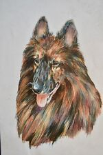 Original Marcia Van Woert Belgium Tervuren Artwork Drawing