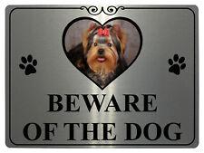 172 BEWARE OF DOG Personalised Photo Metal Aluminium Plaque Sign Door Gate Wall