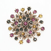 Betsey Johnson Colorful Crystal Rhinestone Flower Charm Women's Brooch Pin Gift