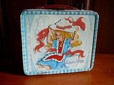 Junior Miss - Vintage 1973 Aladdin Metal Lunch Box - Blue Gingham Frame - Good