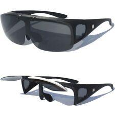POLARIZED LENS Fit Over Prescription Glasses Sunglasses Matte Black Frame New