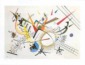 Wassily Kandinsky - Violett  Orange 1935 Poster Kunstdruck Bild 60 x 80 cm