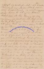 19th Regiment Sc Infantry letter 1864 by Williamson re Tenn & Alabama trips