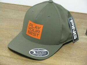 Ping Stacked PYB Golf Hat Olive/Orange Adjustable BRAND NEW w/TAGS WOW!!
