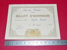 BILLET D'HONNEUR 1926 BON-POINT ECOLE IMAGE RECOMPENSE ELEVE