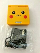 Pikachu Edition Pokemon Nintendo Game Boy Advance sp GBA ags 001 & charger