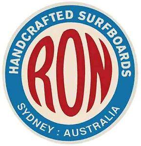 RON Surfboards Australia Vintage Style 1960's  Travel Decal Surf Surfing Sticker