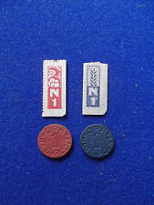 OPA Blue & Red Point Token & Ration Stamps World War Two WWII vintage coin